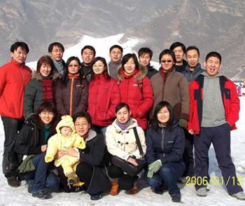 爱普特公司滑雪活动合照