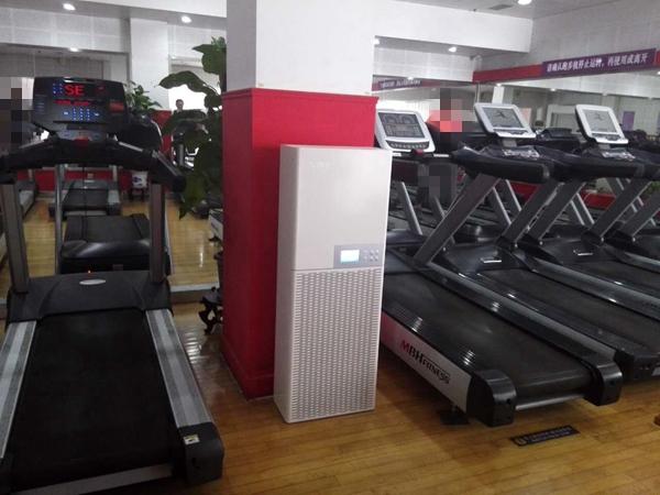 爱普特空气净化器健身房应用